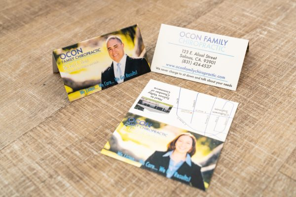 Ocon Family Chiropractic business cards