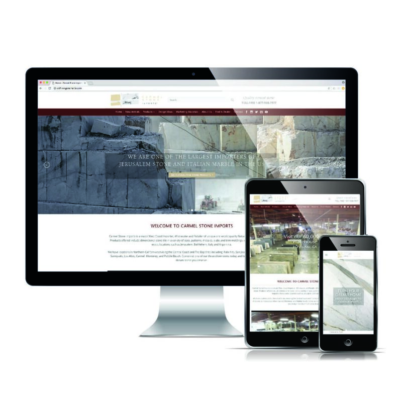 Carmel Stone Import - Responsive Website Design
