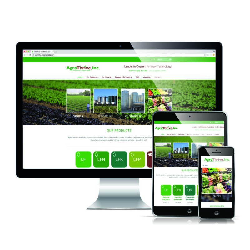 Agro Thrive - Responsive Website Design