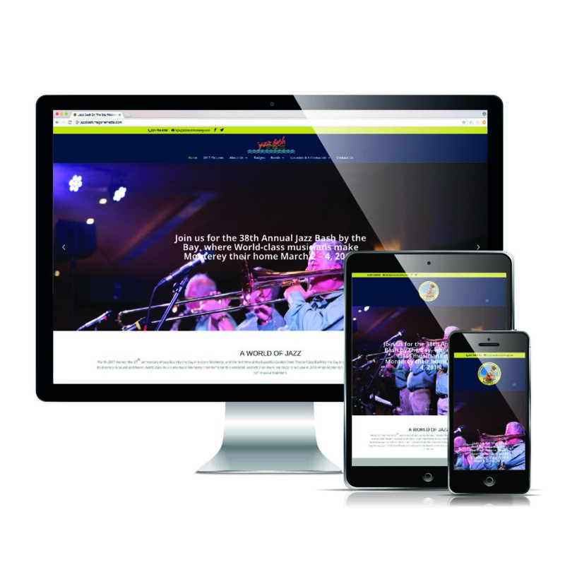 Jazz Bash Monterey - Responsive Website Design